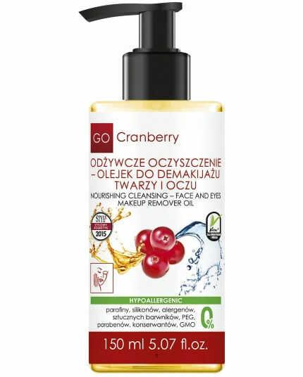 GoCranberry Olejek do Demakijażu Twarzy i Oczu 150ml