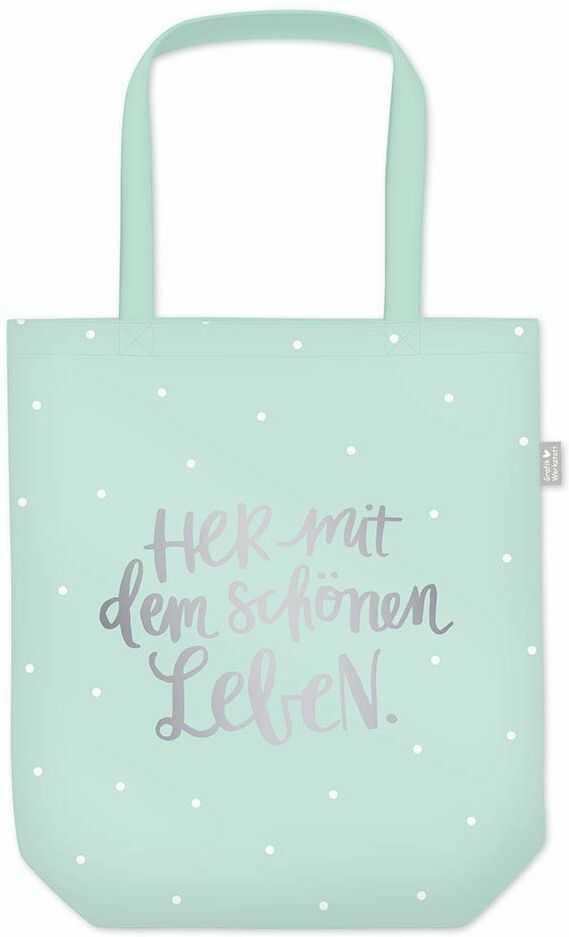 Grafik Werkstatt torba na zakupy z zabawnym napisem, składana torba na zakupy lekka torba, niebieski (niebieski) - 62020