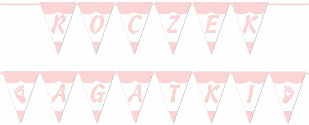 Baner flagi personalizowany na roczek dziewczynki - 5 m
