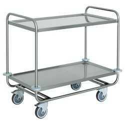 Wózek kelnerski 2-półkowy ze stali nierdzewnej 1090x590x(H)950mm