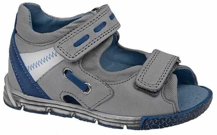 Sandałki dla chłopca KORNECKI 3725 Popielate Sandały