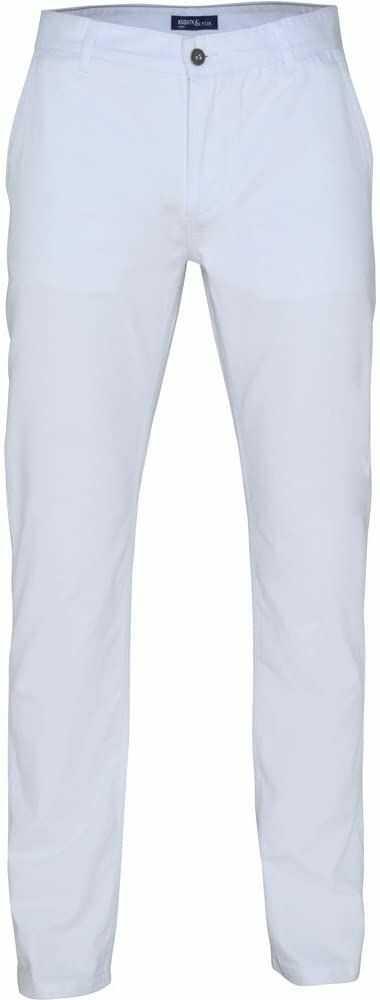 Asquith Fox Klasyczne spodnie unisex Chino Letnie bawełniane biały Size 32/Large