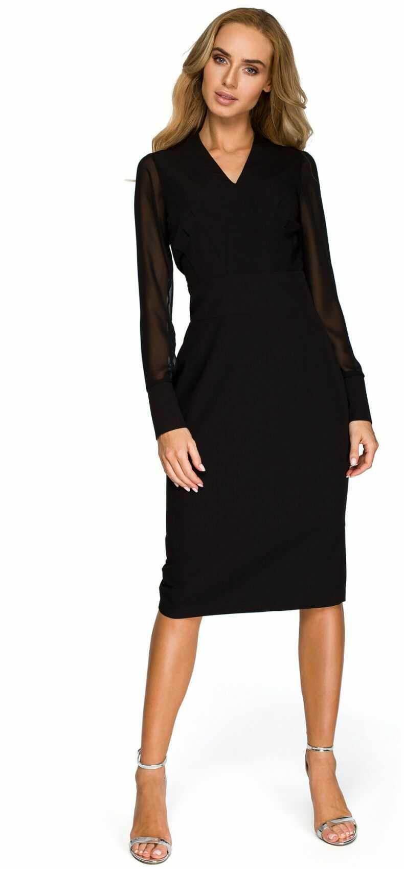S136 Sukienka ołówkowa - mała czarna