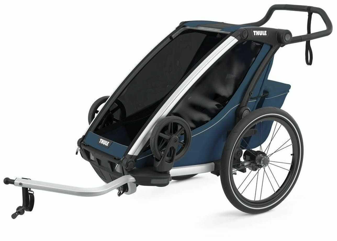 Przyczepka rowerowa dla dziecka - THULE Chariot Cross 1 - Majolica Blue
