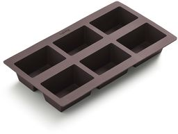Lékué Forma do pieczenia bułek, prostokątna, silikonowa, czarna, 30 x 18 x 8 cm, 6 sztuk