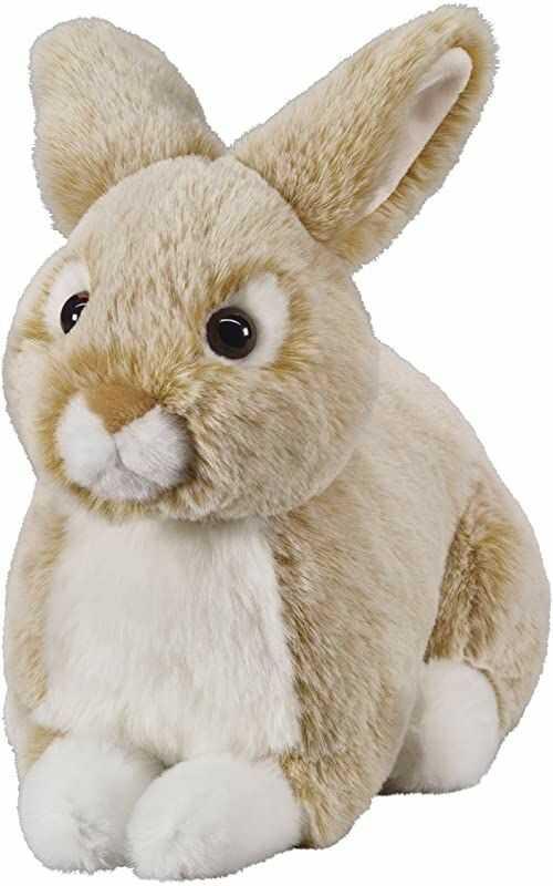 """Bauer Spielwaren """"Twoje zwierzęta z sercem"""" leżący zając: mała przytulanka do przytulania i kochania, idealna jako prezent, 25 cm, beżowy (12511)"""