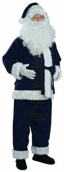 Granatowy strój Mikołaja - kurtka, spodnie, czapka