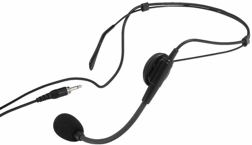 Monacor HSE-86 - elektretowy mikrofon nagłowny