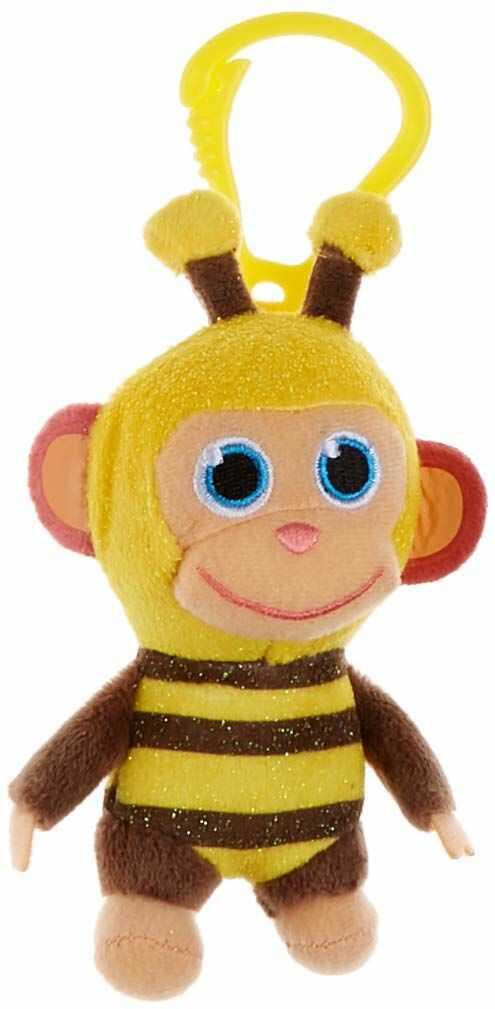 Joy Toy 31053 Wonderpark pluszowa małpka, 8 cm, model: pszczoła, wielokolorowa