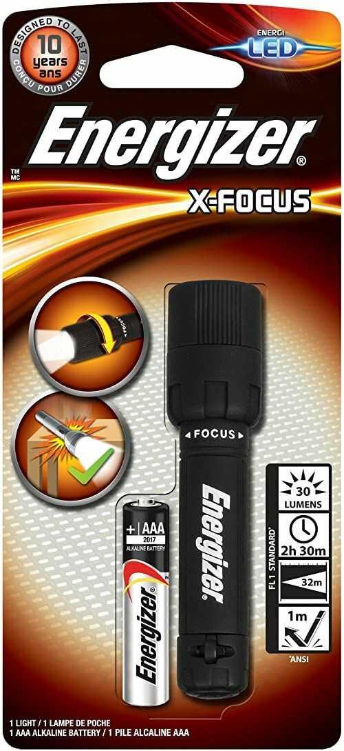 Energizer Latarka X-Focus LED (w zestawie 1 x AAA, 30 lumenów, zasięg 32 m)