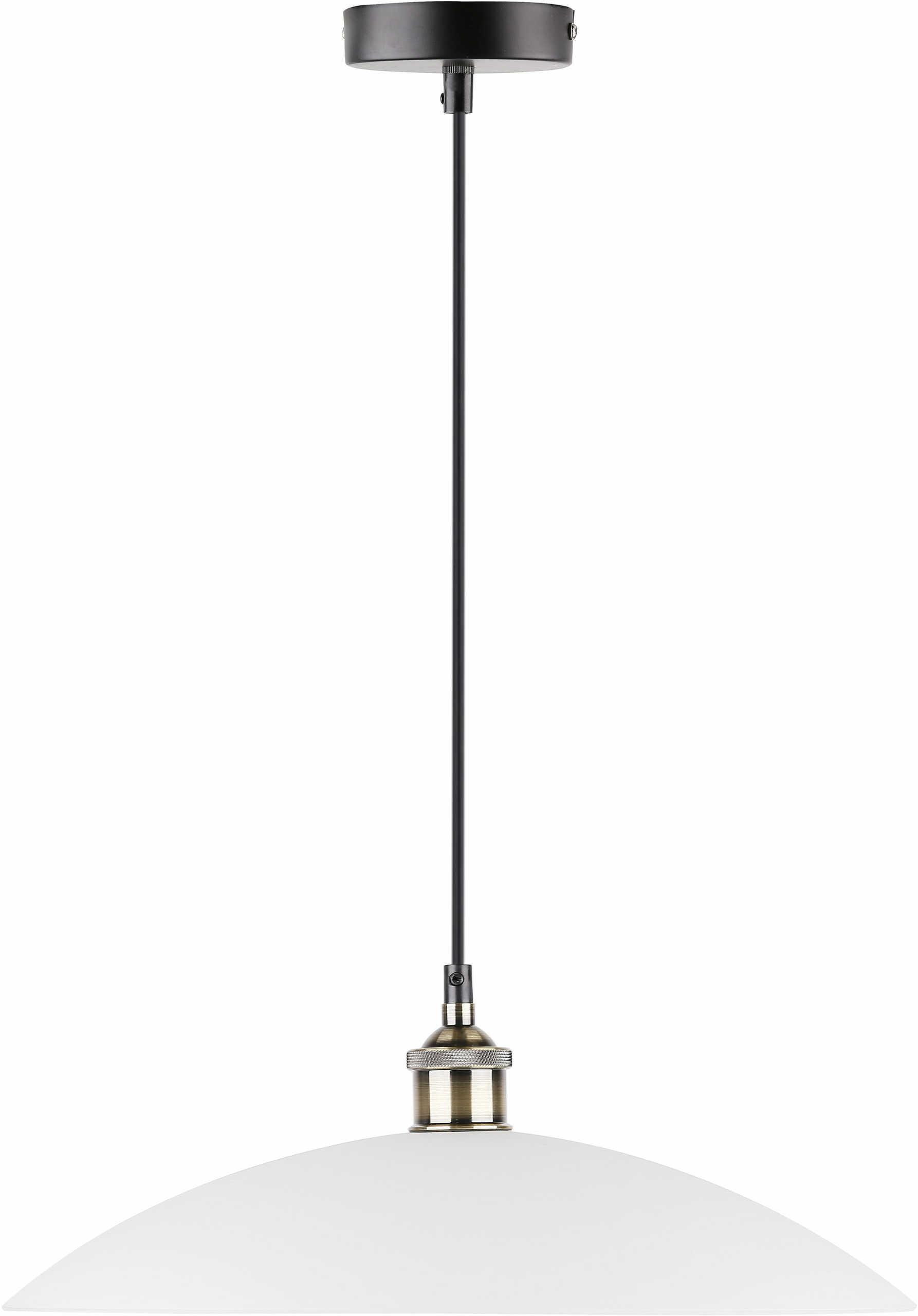 Candellux DEXTER 31-77721 lampa wisząca biały klosz szkło 1X60W E27 40 cm