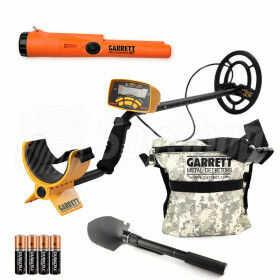 Wykrywacz metali Garrett Ace 250 dla poszukiwaczy skarbów, Pakiet - Wykrywacz + pinpointer AT
