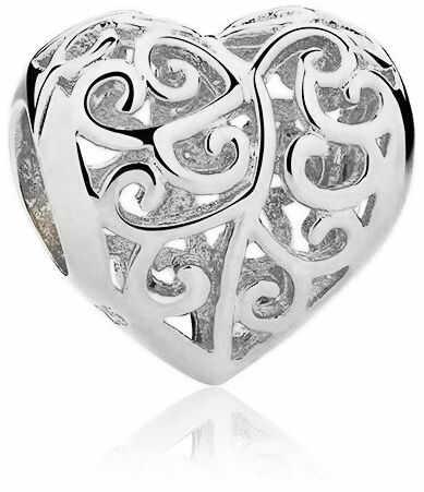 Rodowany srebrny charms do pandora ażurowe serce serduszko heart srebro 925 SY016R