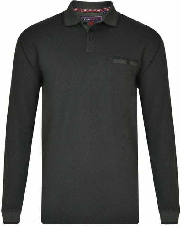 KAM 5429 Koszulka Polo z Długim Rękawem