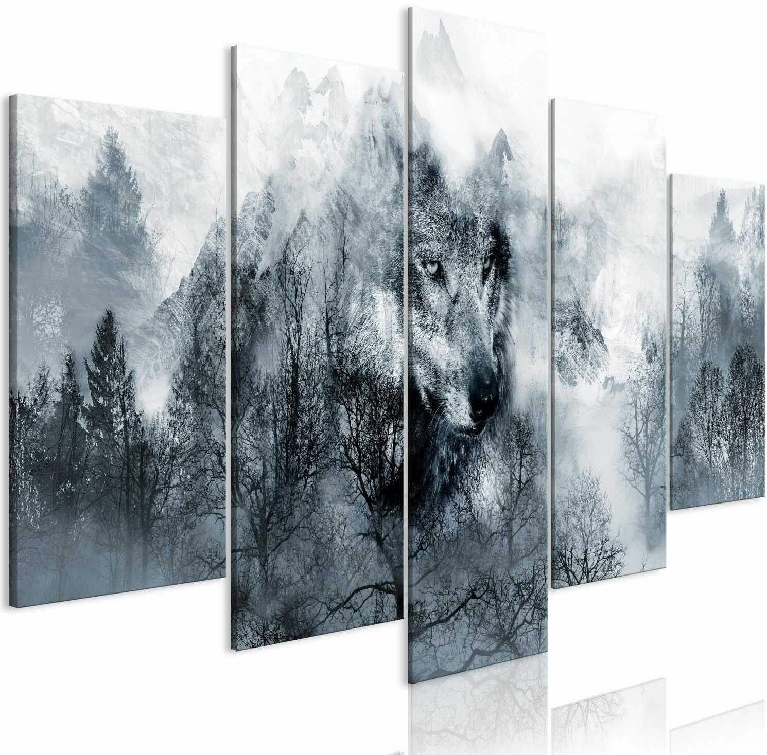Obraz - drapieżnik z gór (5-częściowy) szeroki