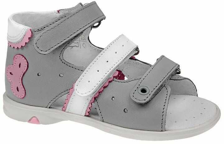 Sandałki dla dziewczynki KORNECKI 3713 Popielate Sandały