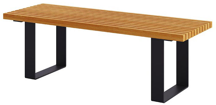 Ogrodowa ławka bez oparcia 180 cm dąb - Erika 3X