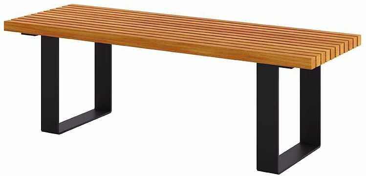 Miejska ławka bez oparcia 180 cm kasztan - Erika 3X