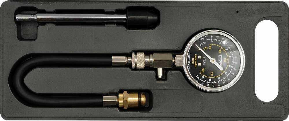 Miernik ciśnienia sprężania, zestaw adapterów Yato YT-7302 - ZYSKAJ RABAT 30 ZŁ