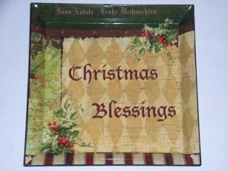 ŚWIĄTECZNA TACKA PODSTAWKA - Christmas Blessing