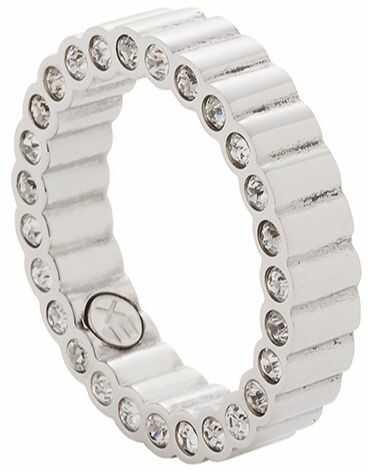 Piers cionek magnetyczny 3805-1 stal chirurgiczna z kryształami w piers cionku