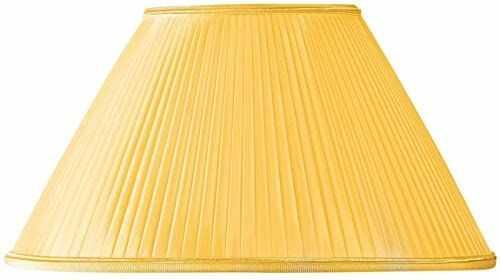 Klosz lampy w kształcie retro, Ø 40 x 13 x 23 cm, żółty