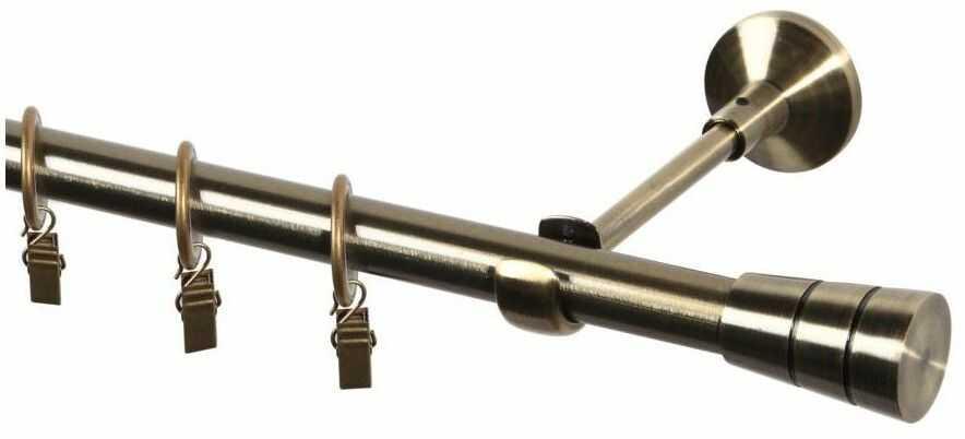Karnisz Sycylia 200 cm pojedynczy antyczne złoto 19 mm