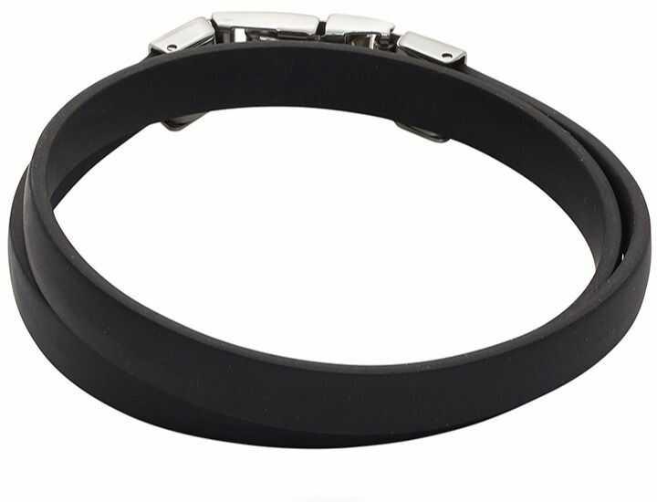 Bransoletka silikonowa podwójna 3624-2 czarna