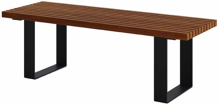 Nowoczesna ławka ogrodowa 180 cm tik - Erika 3X