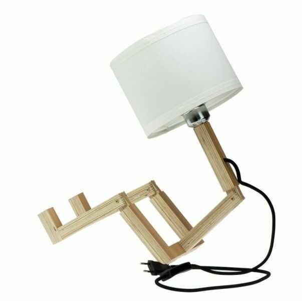 Lampka dekoracyjna nocna drewniana
