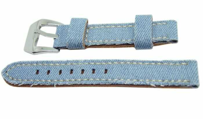 Pasek DILOY 18mm błękitny 390.18.19
