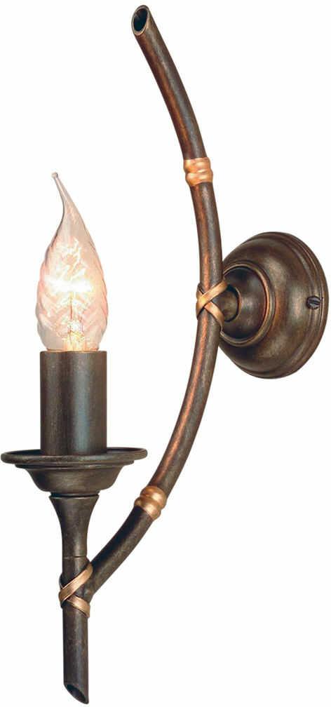 Kinkiet Bamboo BB1 BRZ Elstead Lighting brązowa oprawa w dekoracyjnym stylu