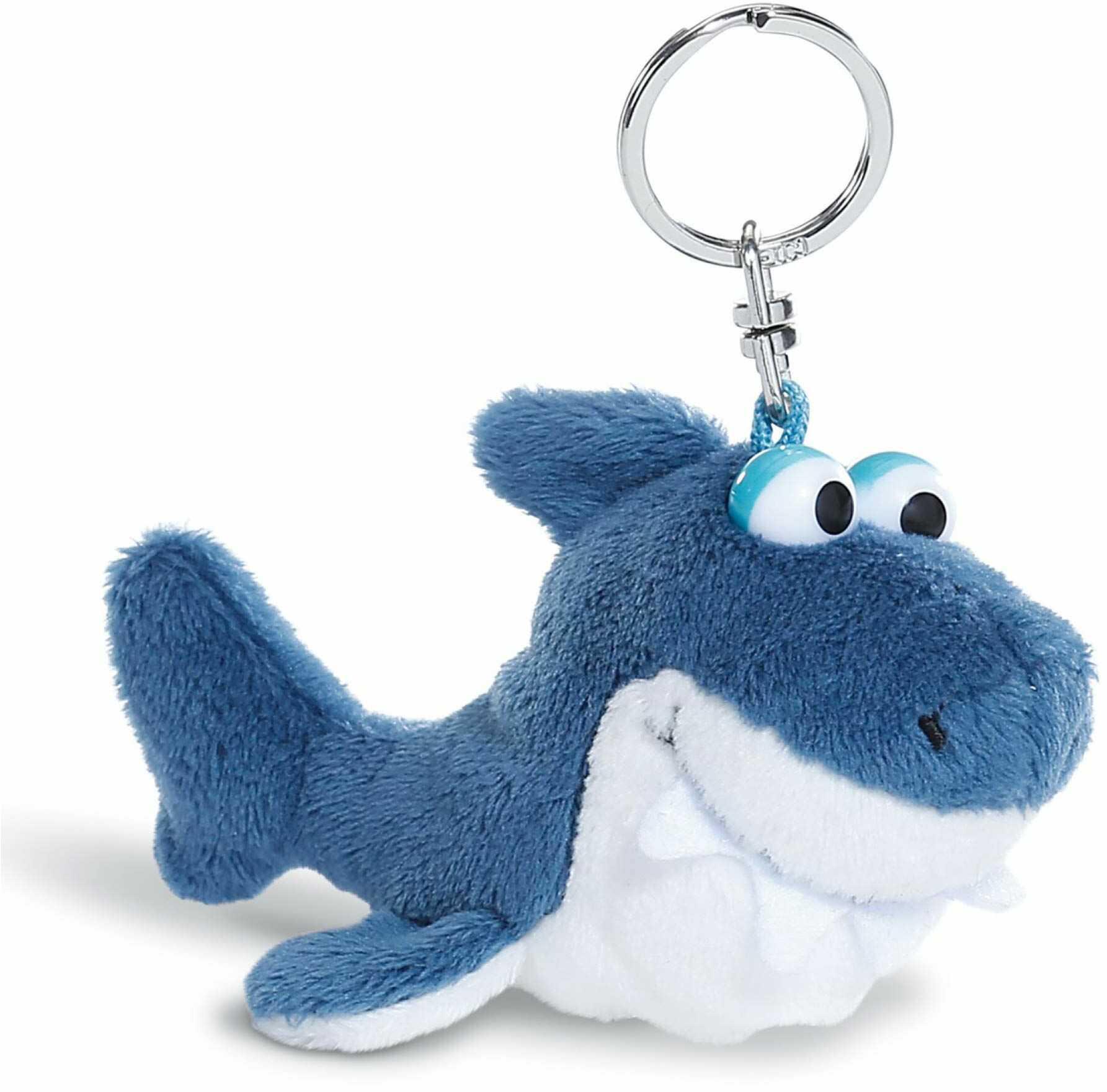 NICI Brelok do kluczy pluszowy rekin 10 cm  pluszowe zwierzątko rekin przywieszka do przytulania z kółkiem na klucze, pęk kluczy, brelok do kluczy i brelok  zawieszka rekina do torebki  45351