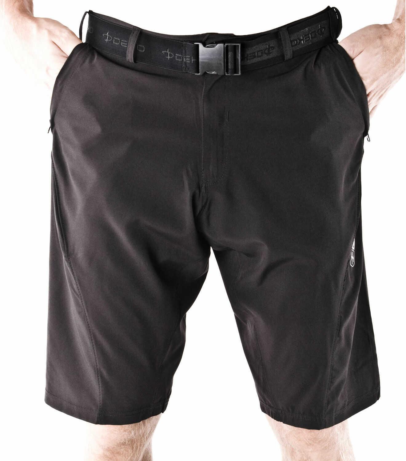 DEKO V1 luźne szorty rowerowe MTB/XC, czarne Rozmiar: L,deko-v1-mtb