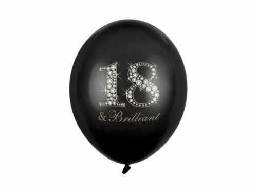 Balon na 18 urodziny 18 & Brilliant, czarny
