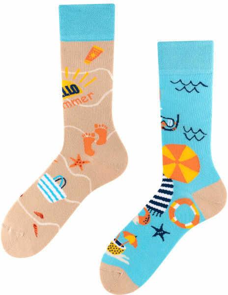 Summer, Todo Socks, Plaża, Morze, Parasol, Ręcznik, Kolorowe Skarpety
