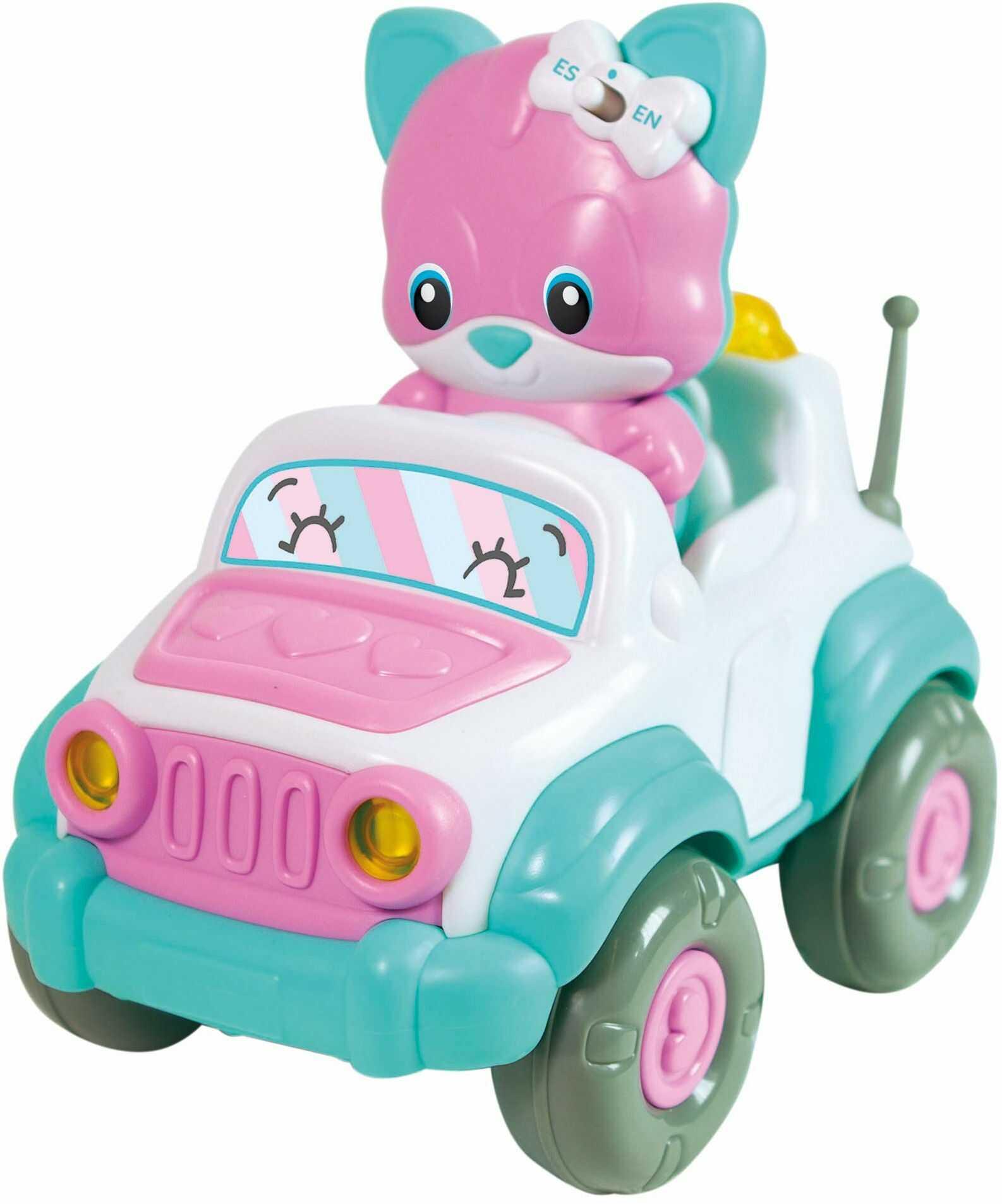 Clementoni 61719 Kitty RC Pojazd - interaktywna i mowa zabawka (może nie być dostępna w języku polskim) - zdalne sterowanie samochód, 2 lata i starsze, wielokolorowe
