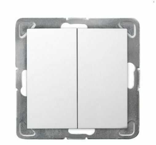 Włącznik schodowy podwójny IMPRESJA Biały OSPEL