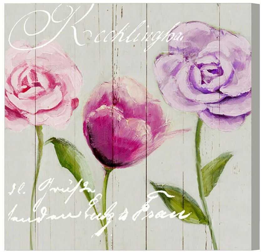 Emde CH112002-0 obraz na płótnie tulipan i róże