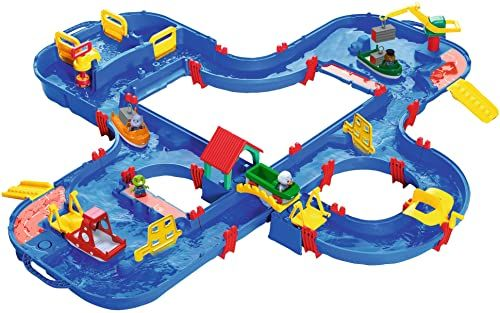 AquaPlay - AquaPlay nGo - 160 x 145 x 22 cm duża woda, największy świat wody firmy AquaPlay, w zestawie 4 figurki zwierząt i 4 łódki, dla dzieci od 3 lat