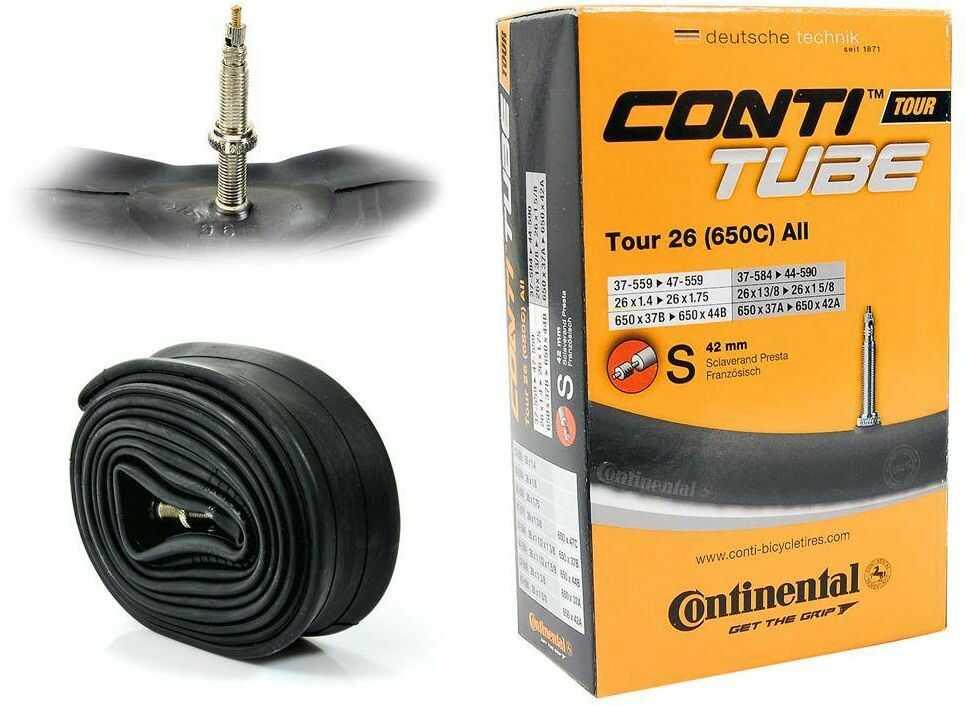 """Dętka Continental Tour 26'' oraz 27,5"""" x 1,4'' - 1,75'' wentyl presta 42 mm"""