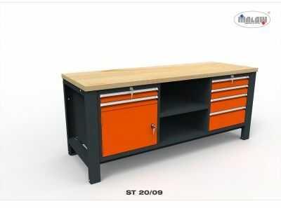 """Stół narzędziowy ST 20/09 """"TRÓJKA"""" do warsztatu metalowy klucz"""