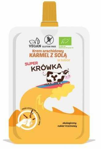 Krem arachidowy KARMEL Z SOLĄ w tubce bezglutenowy BIO 50 g Me Gusto (Super Krówka)