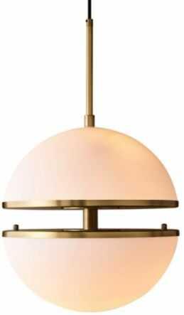 Jowisz - mleczna kula - nowoczesna lampa wisząca