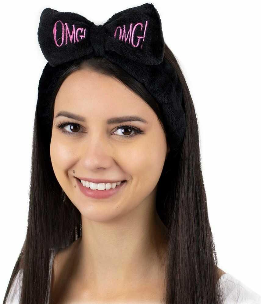Opaska do włosów kosmetyczna do makijażu czarna