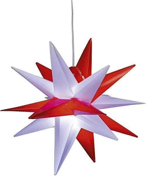 HGD CAS30193 gwiazda bożonarodzeniowa, tworzywo sztuczne, kolorowa, duża