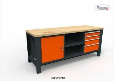 """Stół narzędziowy ST 20/10 """"TRÓJKA"""" warsztatowy metalowy na klucz"""