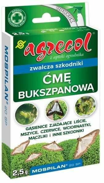 Środek ochrony roślin Agrecol Mospilan na ćmę bukszpanową 2,5 g