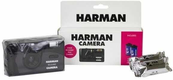 Aparat wielokrotnego użytku Harman + 2 filmy Kentmere Pan 400/36