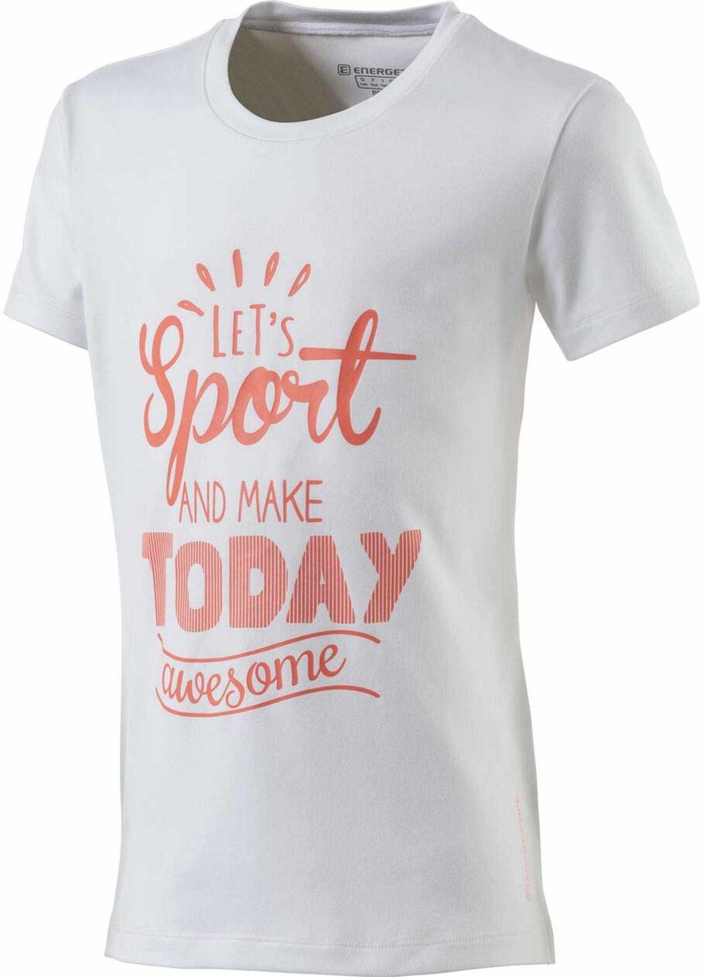 Energetics Gandalfa 3 T-shirt, White/Red Light, 128